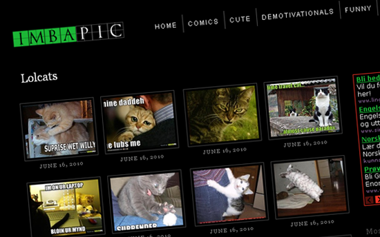 ImbaPic.com hjemmeside