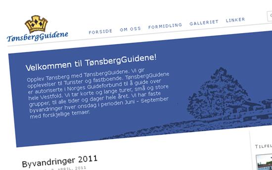 Tønsbergguidenes hjemmeside